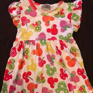 Mickey/Minnie Fruit Flutter Pearl Dress